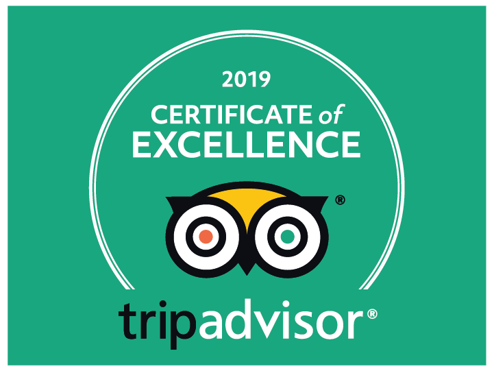 Yummy Pedals Trip Advisor Certificate of Excellence 2019