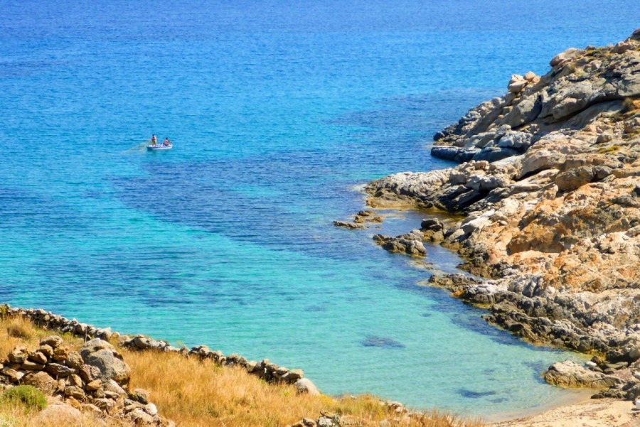Photo capturing the beauty of the Aegean Sea coast with a Yummy Pedals bike tour