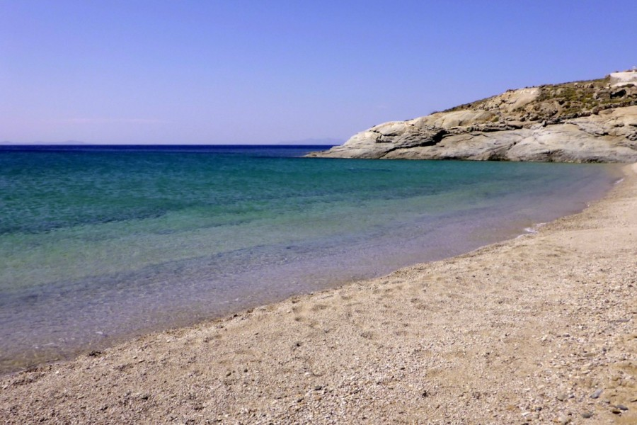 The Aegean Sea's 50 shades of blue witnessed at Lia Beach
