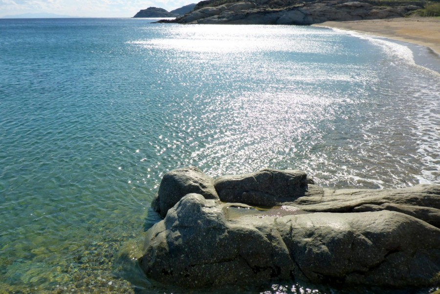 Reflections of silver on the Aegean Sea surface; homage to Mykonos' gems