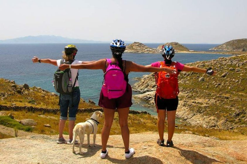 Cycling lifts the spirit and exercises the body, while enjoying picturesque landscapes of Mykonos